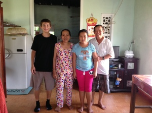 Mr Trung and his family