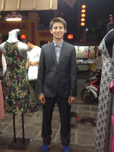 Kyle trying on his suit!