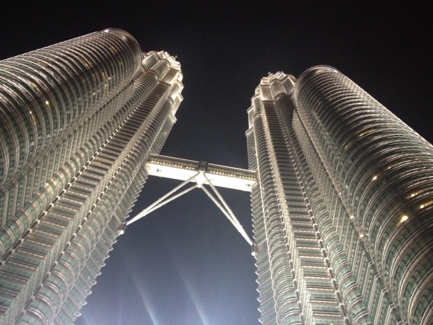The Petronas Towers at night!