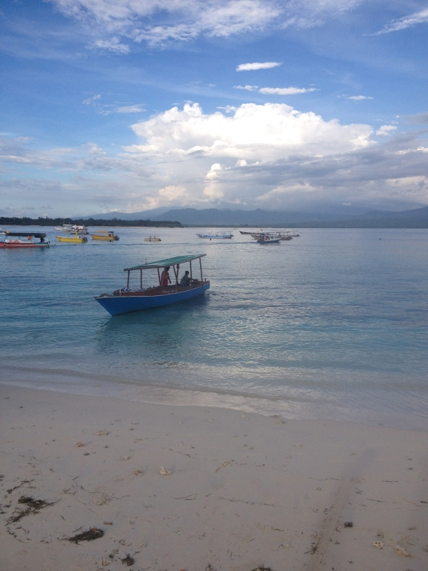 Beautiful waters at Gili Trawangan!