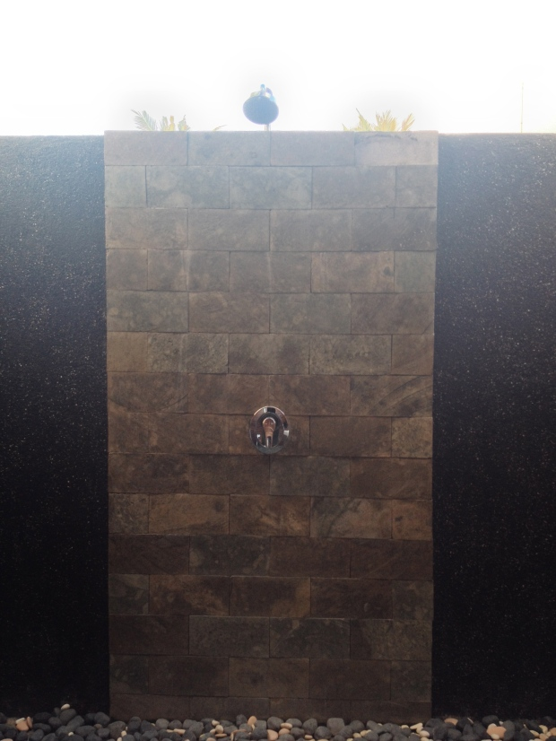 The outdoor shower!