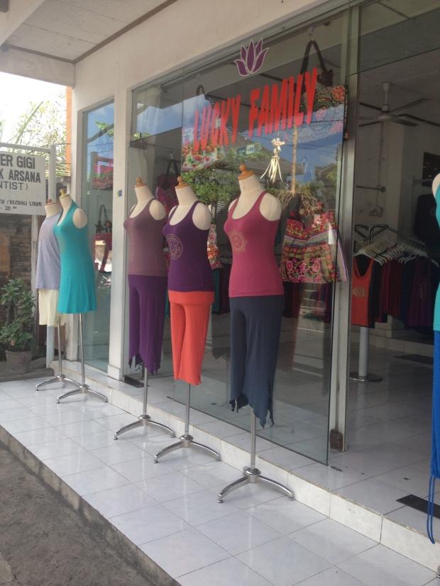 Yoga shops everywhere!!