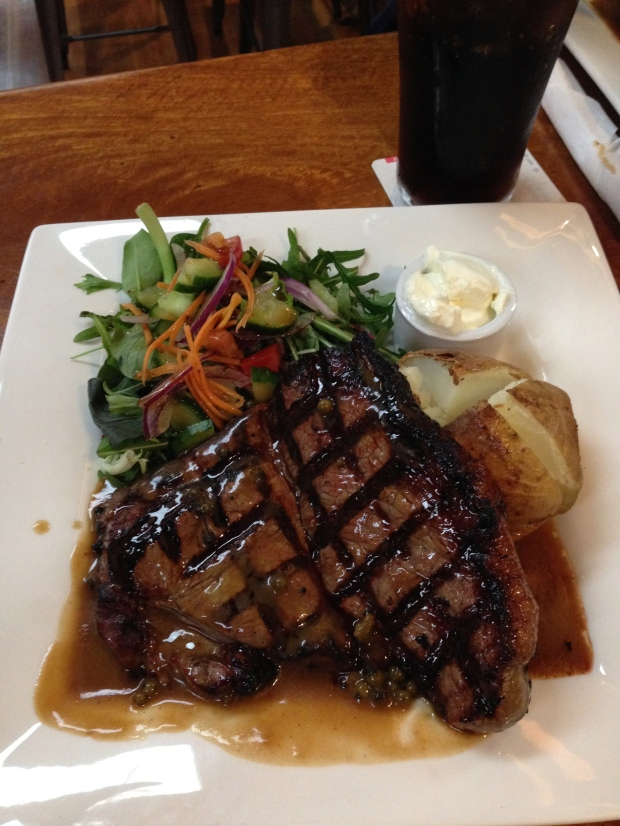 Had to have a yummy steak before that though!
