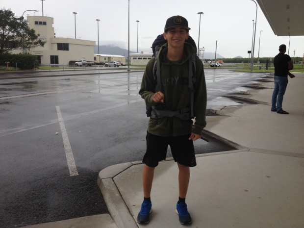 Lol Kyle waiting for the shuttle in Cairns!