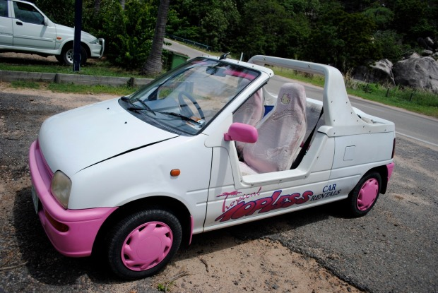The barbie car!